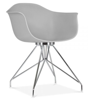 Memot Designer Chair With A Grey Shell Front Angle