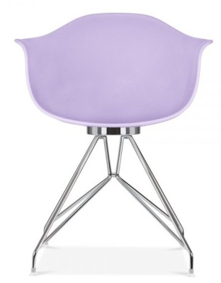Memot Chair With A Lavender Shell Front View