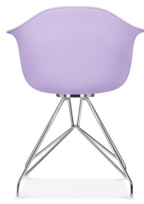 Memot Chair With A Lavender Shell Rear View