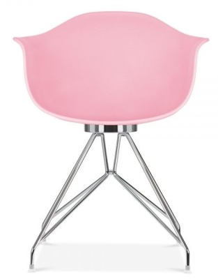 Memot Chair With Pastel Pink Shell Front View