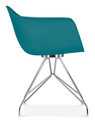 Memot Chair With Teal Shell Side View
