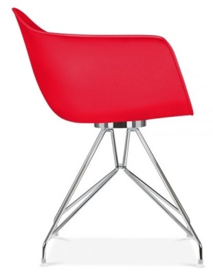 Memot Chair With A Red Shell Side View