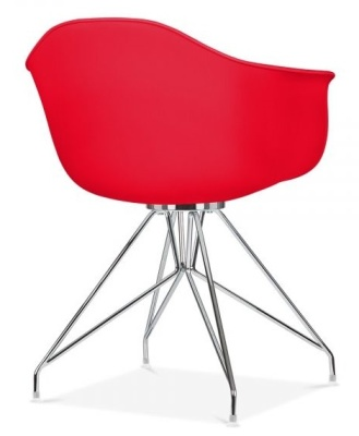 Memot Chair With A Red Shell Rear Angle View