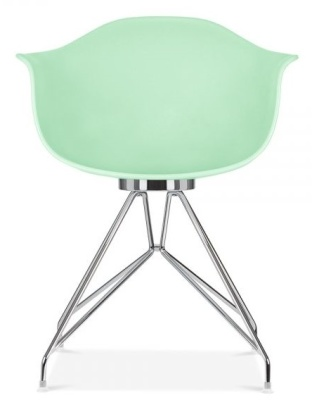 Memot Chair With A Pastel Green Shell Front View
