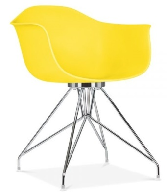 Memot Designer Chair In Yellow Front Angle