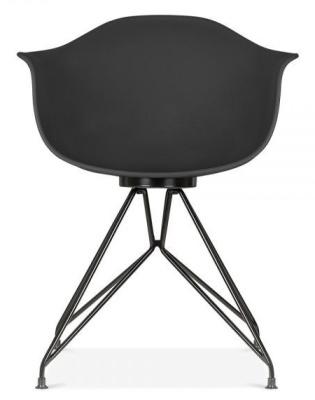 Mamot Chair Black Frame And Black Shell Front Shot