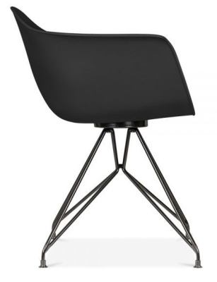 Memot Chair With A Black Shall And Black Frame Side View