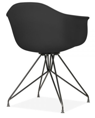 Memot Chair With A Black Shell And Black Frame Reaer Angle