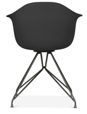 Memot Chair With A Black Shell And Black Frame Rear View