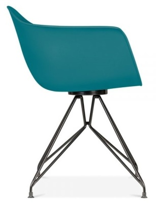Memot Chair With A Teal Shell Side View
