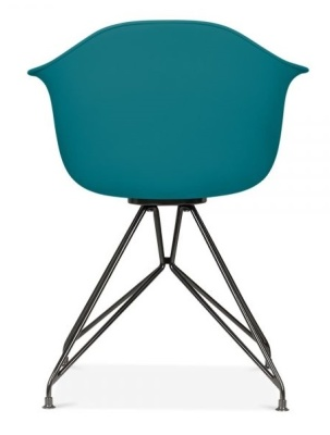 Memot Chair With A Teal Shell And Black Frame Rear View