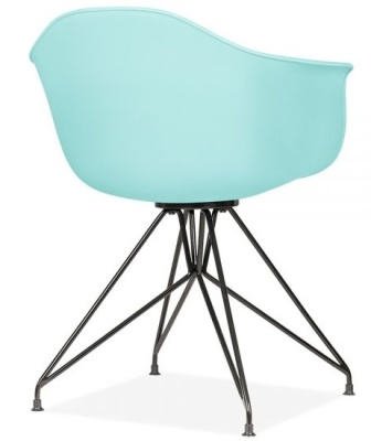 Memot Chair With A Pastel Blue Shall And Black Shell Rear Angle View