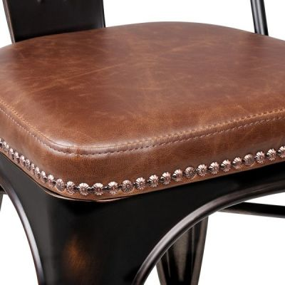 Brown Leather And Stud Detail