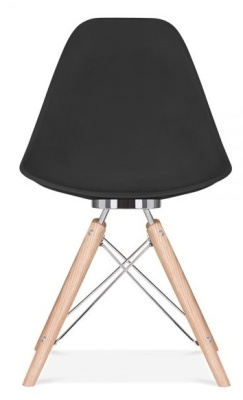 Antona Designer Chair Black Shell Rear View