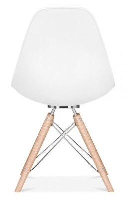 Acopna Designer Chair With A White Shell Rear View
