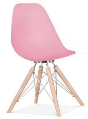 Acona Chair In Pink Rear Angle