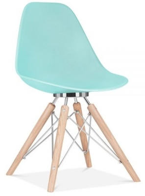 Acona Chair In Pastel Bue Front Angle