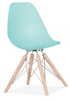 Acona Chair Pastel Blue Rear Angle