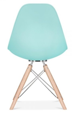 Acona Chair Pastel Blue Rear View