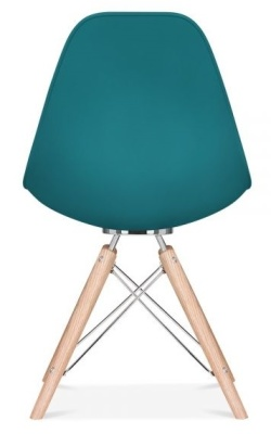 Acona Designer Chair Rear View Teal Shell