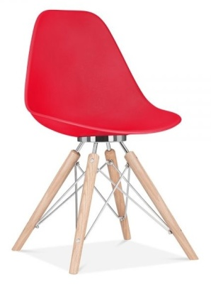 Acona Chair Red Shell Front Angle