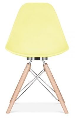 Acona Chair Lemon Shell Front View