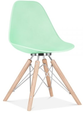 Acona Chair Pastel Green Front View