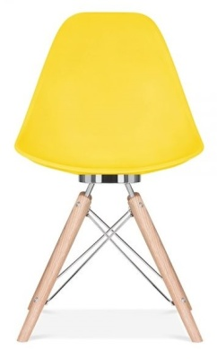 Acona Chair Yellow Shell Front View