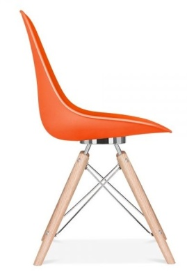 Acona Chair Orange Shell Side View