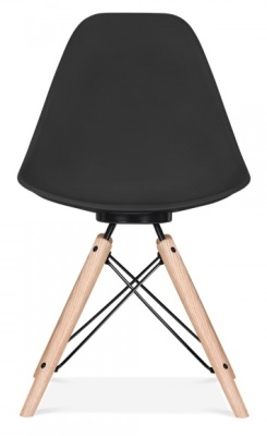 Antona Chair Black With Black Frame Front Shot