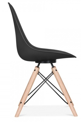 Antona Black Chair With A Black Frame Side View
