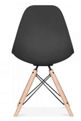 Antona Chair Black With Black Frame Rear View