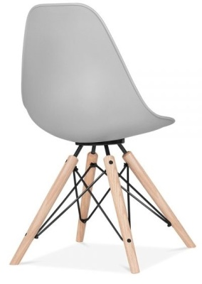 Antona Chair In Grey Rear Angle