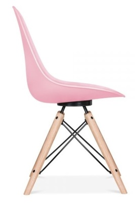 Ancona Chair On Pink With A Black Frame Side View