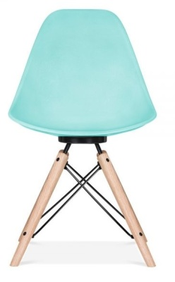 Antona Chair In Light Bllue And Black Frame Front View