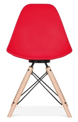 Antona Chair In Red Ansd Black Frame Front View