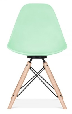 Antona Chair In Pastel Green And Black Frame Front View