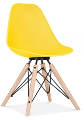 Antona Chair In Yellow With A Black Frame