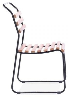 Bauhaus Chair Black Frame Side View