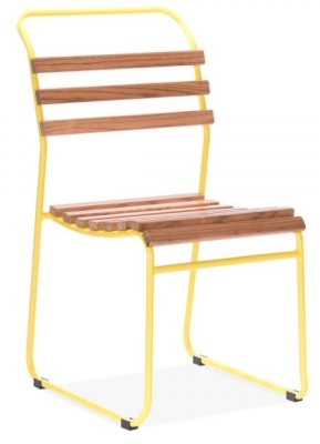 Bauhaus Chair With A Yellow Frame Front Angle