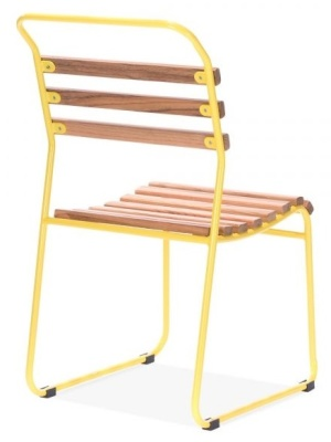 Bauhaus Chair Yellow Frame Rear Angle