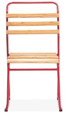 Bauhaus Chair With A Red Frame Front View