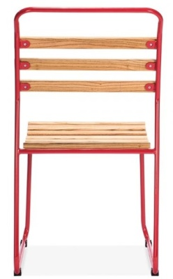 Bauhaus Sled Chair With A Red Frame Rear View