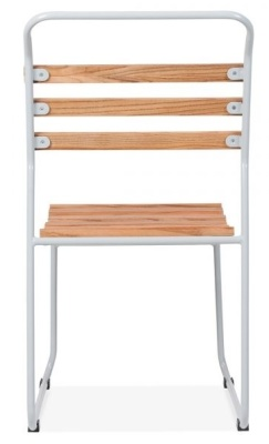 Bauhaus Slat Chair Wioth A Grey Frame Rear View