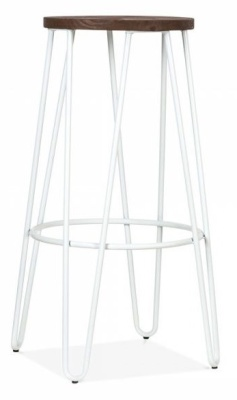 Hairpin Stool With A White Frame 1
