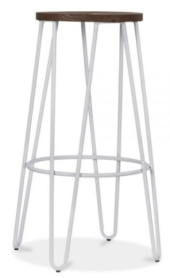 Hairpin Stool With A Grey Metal Frame 1