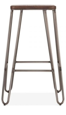 Hairpin Stool With A Square Seat 2