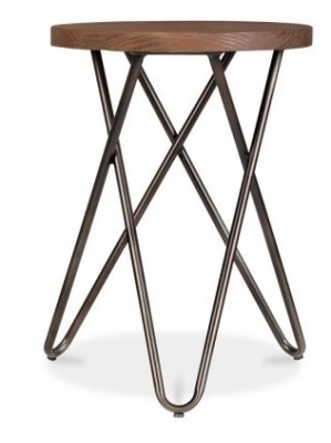 Hairpin Cross Style Low Stool
