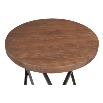Hairpin Cropss Style Stool Seat Detail