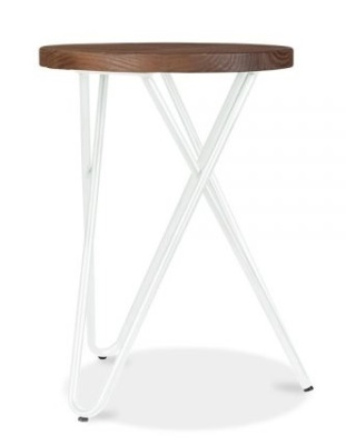 Hairpin Low Stool With A White Frame 3
